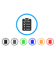 todo list rounded icon vector image