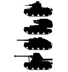 Vintage armored vehicles vector