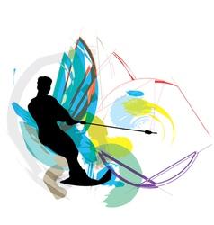 Water skiing man vector image vector image