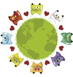 world kittens vector image