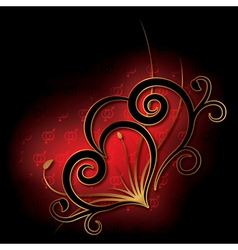 Abstract with heart valentines day card vector