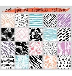 color painted seamless pattern set vector image