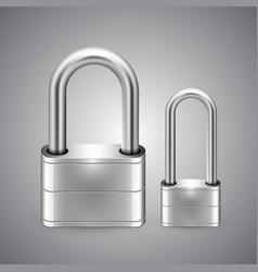 padlock icon gray background vector image