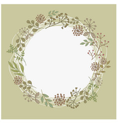 Mothers day wreath card vector