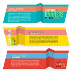 Colorful banners eps10 vector
