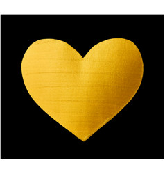Shining gold heart for you amazing design vector