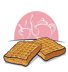 waffles vector image