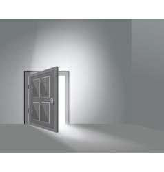 Room door open vector