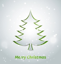 Creative paper christmas tree vector