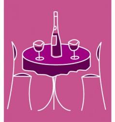 cute restaurant table vector image