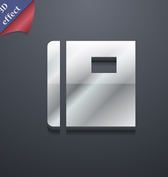 Book icon symbol 3d style trendy modern design vector