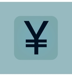 Pale blue yen icon vector