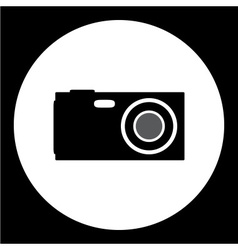 Compact camera simple isolated black icon eps10 vector