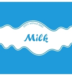 Abstract white blue background milk splash wave vector