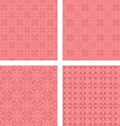 Coral seamless pattern background set vector