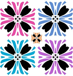 Abstract flower with color variations vector