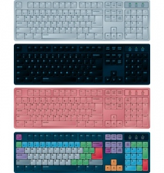 Pc keyboards vector