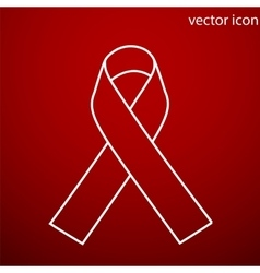 Aids awareness ribbon icon and jpg flat vector