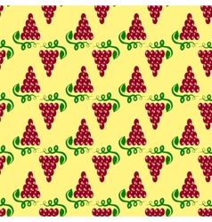 Grapes seamless pattern vine background vector
