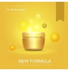Moisturizing face skin cream advertisement for all vector