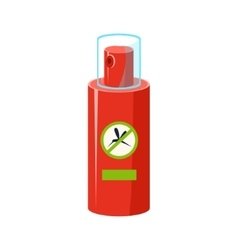 Mosquito repellent in plastic bottle simplified vector