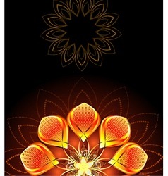Abstract bright flower vector