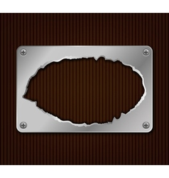 Abstract metallic plate vector image