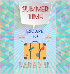 Abstract summer time infographic with book now vector