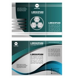 Abstract wavy tri-fold brochure template vector
