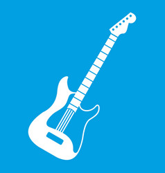 Acoustic guitar icon white vector