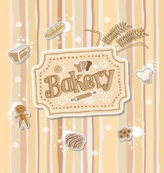 Bakery Label Doodle Sketch vector image vector image