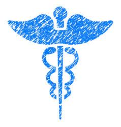 Caduceus grunge icon vector