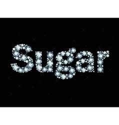 Diamond word sugar vector