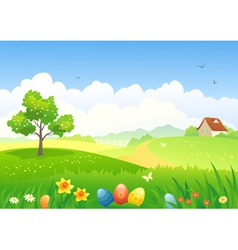 Easter countryside vector image vector image