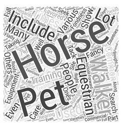 Equestrian equipment word cloud concept vector