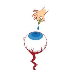 Eye drop vector