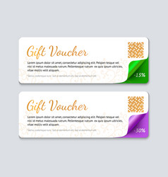 gift voucher template realistic vector image