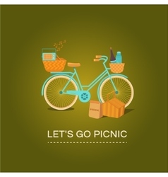 Let s go to picnic vector image