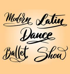 Modern dance typography vector