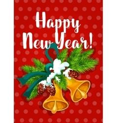 New year jingle bells greeting card vector