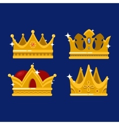 Pope tiara and king or prince shining crown vector image