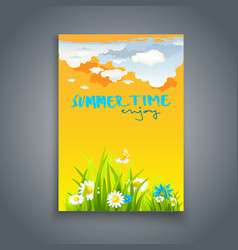 relax summer template vector image