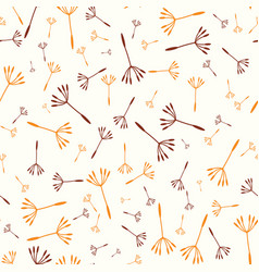 seamless background with dandelions vector image