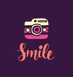 Smile inspirational poster vector