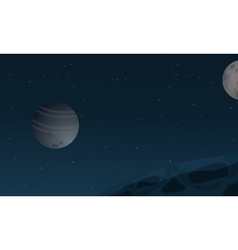 Space with planet of landscape vector