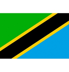 tanzanian flag vector image vector image
