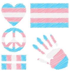 Transgender pride design elements vector