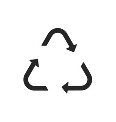 universal recycling symbol flat icon vector image vector image