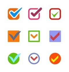 Check vote icon button vector