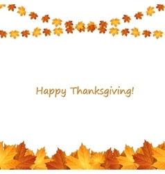 Thanksgiving background design with autumnal vector